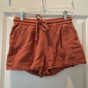 Great Condition Aerie Coral Woven Shorts